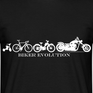 Evolution of a Biker - Männer T-Shirt