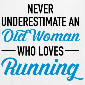 Never Underestimate An Old Woman Who Loves Running Top - Top da donna della marca Bella
