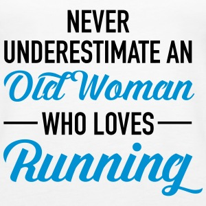 Never Underestimate An Old Woman Who Loves Running Tops - Vrouwen Premium tank top