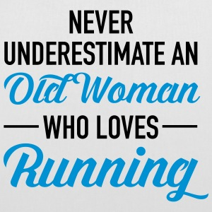 Never Underestimate An Old Woman Who Loves Running Tassen & rugzakken - Tas van stof
