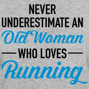 Never Underestimate An Old Woman Who Loves Running Magliette - T-shirt ecologica da donna