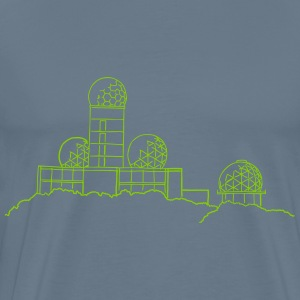 Listening station on Teufelsberg - Men's Premium T-Shirt