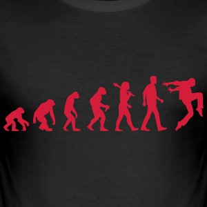 Evolution of Dancing T-Shirts - Männer Slim Fit T-Shirt
