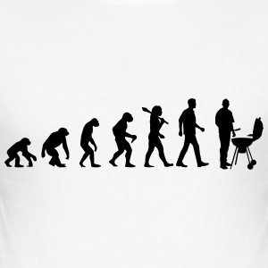 Evolution of BBQ T-Shirts - Männer Slim Fit T-Shirt