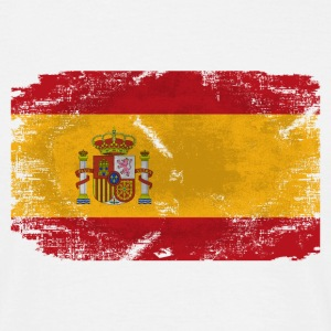 Spain Flag - Vintage Look  T-Shirts - Männer T-Shirt