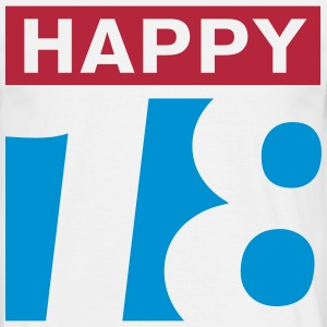 Happy 18 T-Shirts - Männer T-Shirt