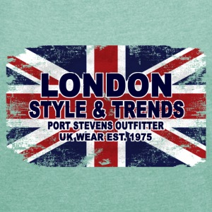 Union Jack - UK Flag - Vintage Look T-Shirts - Frauen T-Shirt mit gerollten Ärmeln