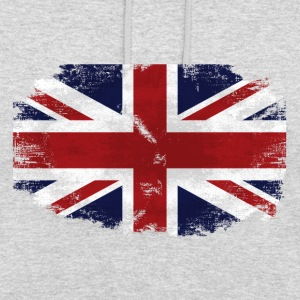 Union Jack - UK Flag - Vintage Look Pullover & Hoodies - Unisex Hoodie