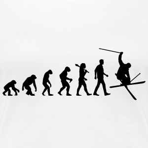 Evolution of Skiing T-Shirts - Frauen Premium T-Shirt