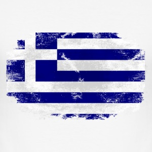 Greece Flag - Vintage Look T-Shirts - Männer Slim Fit T-Shirt