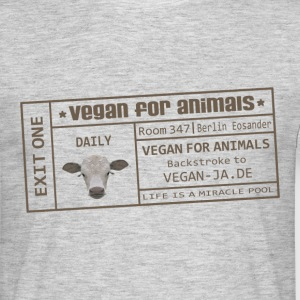vegan for animals T-Shirts - Männer T-Shirt