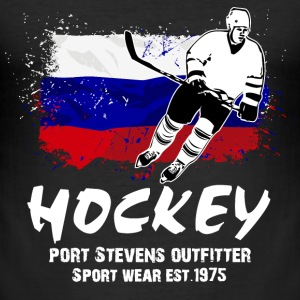 Icehockey - Russia T-Shirts - Männer Slim Fit T-Shirt
