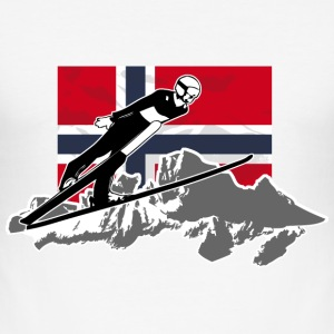 Skispringen - Skijumping - Norway Flag T-Shirts - Männer Slim Fit T-Shirt