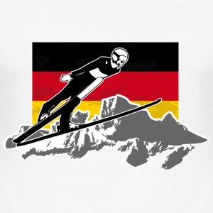 Skispringen - Skijumping - German Flag T-Shirts - Männer Slim Fit T-Shirt