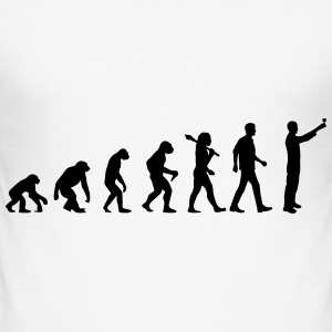 Evolution Of Drinking T-Shirts - Männer Slim Fit T-Shirt