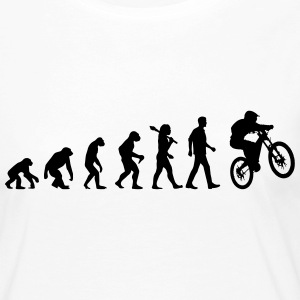 Evolution Of Biking Langarmshirts - Frauen Premium Langarmshirt