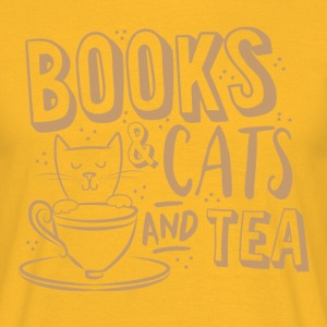 books and cats and tea T-Shirts - Men's T-Shirt