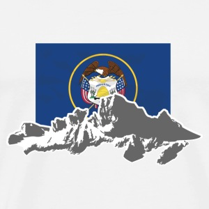 USA - Utah - Mountains & Flag T-Shirts - Männer Premium T-Shirt