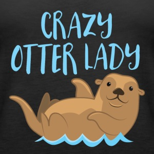 crazy otter lady Tops - Women's Premium Tank Top