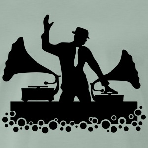 Gramophone DJ, Music, Swing, Bubbles, Records T-shirts - Herre premium T-shirt