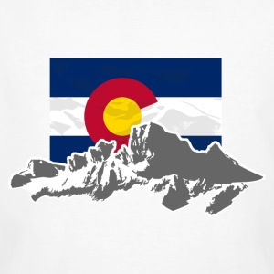 USA - Colorado - Mountains & Flag T-Shirts - Männer Bio-T-Shirt