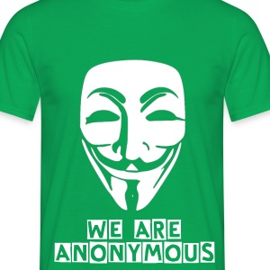 green anonymous t-shirt - Men's T-Shirt