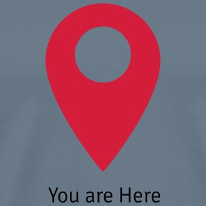 Map - You are here T-shirts - Herre premium T-shirt