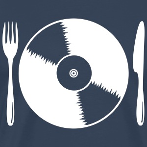 Record with cutlery T-Shirts - Men's Premium T-Shirt
