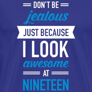 Awesome At Nineteen T-shirts - Mannen Premium T-shirt