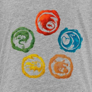 DreamWorks Dragons Icons Watercolor Kinder T-Shirt - Kinder Premium T-Shirt