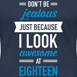 Awesome At Eighteen T-shirts - Premium-T-shirt dam