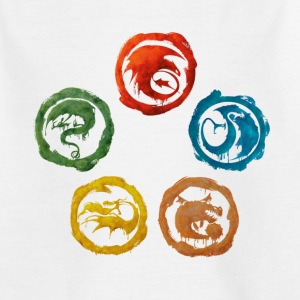 DreamWorks Dragons Icons Watercolor Teenager T-Shi - Teenager T-Shirt