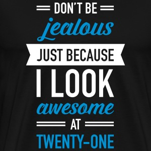 Awesome At Twenty-One T-shirts - Premium-T-shirt herr