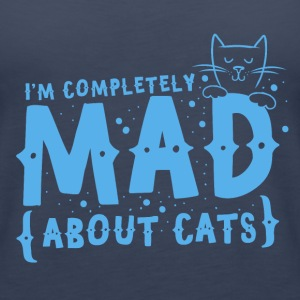 I'm completely mad about CATS Tops - Women's Premium Tank Top