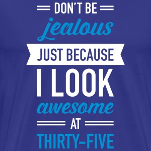 Awesome At Thirty-Five T-shirts - Premium-T-shirt herr