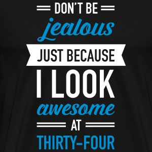 Awesome At Thirty-Four T-shirts - Premium-T-shirt herr