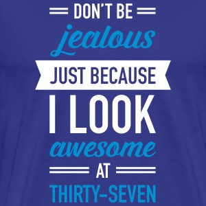 Awesome At Thirty-Seven T-shirts - Premium-T-shirt herr