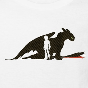 DreamWorks Dragons Hicks & Ohnezahn Silhouette Kin - Kinder Bio-T-Shirt
