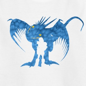 DreamWorks Dragons Astrid & Sturmpfeil Silhouette  - Teenager T-Shirt