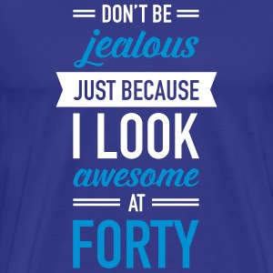Awesome At Forty T-Shirts - Men's Premium T-Shirt