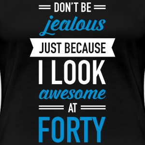 Awesome At Forty T-shirts - Vrouwen Premium T-shirt