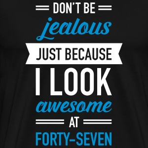 Awesome At Forty-Seven Tee shirts - T-shirt Premium Homme