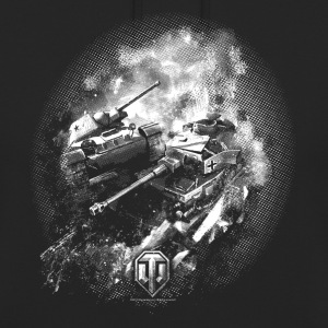 World of Tanks Battlefield BW Men Hoodie - Luvtröja unisex