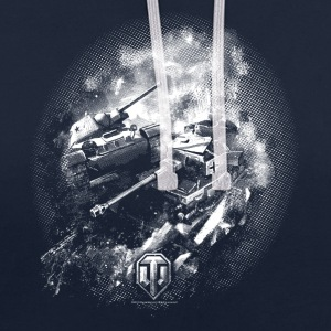 World of Tanks Battlefield BW Men Hoodie - Felpa con cappuccio bicromatica