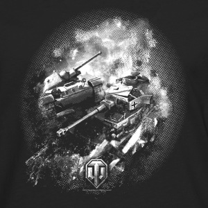 World of Tanks Champ de bataille BW Homme tee shir - T-shirt manches longues Premium Homme