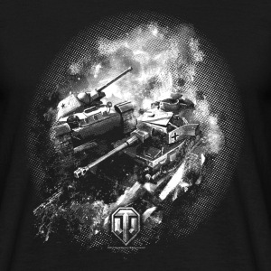 World of Tanks Champ de bataille BW Homme tee shir - T-shirt Homme