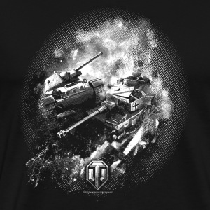 World of Tanks Champ de bataille BW Homme tee shir - Camiseta premium hombre