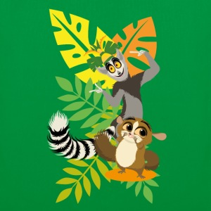 DreamWorks King Julien with Mort Tote Bags - Tote Bag