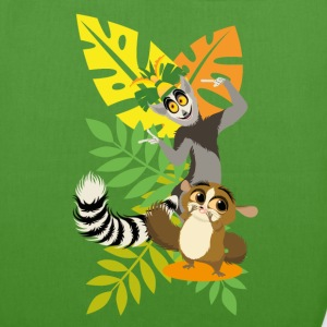 DreamWorks King Julien with Mort Tote Bags - EarthPositive Tote Bag