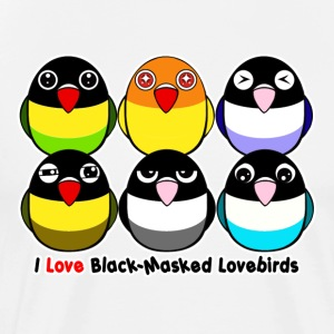 Black-masked lovebirds - Men's Premium T-Shirt